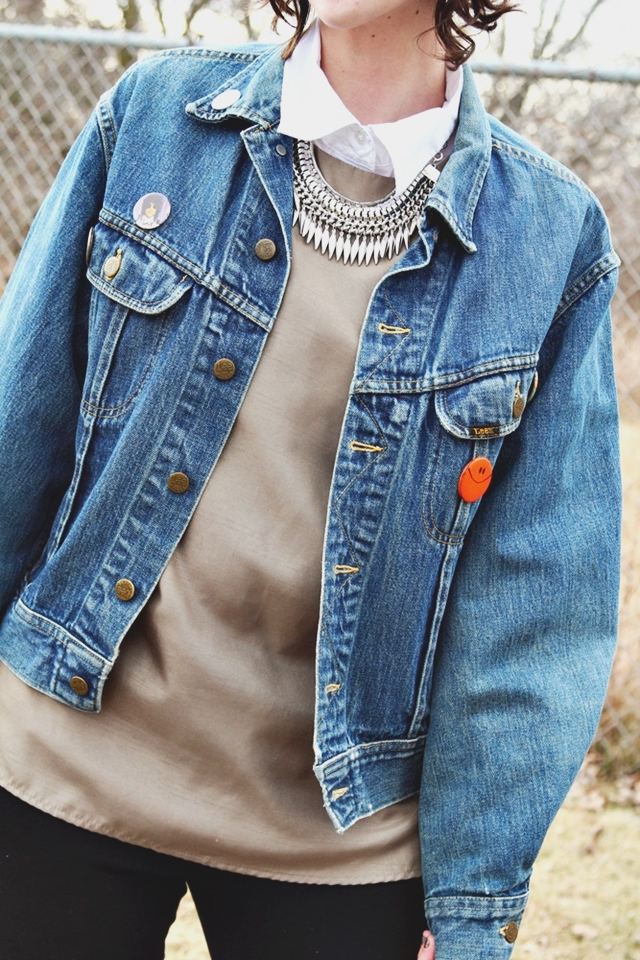 hannah rupp the outfit repeater jean jacket grunge outfit 1990s doc martens