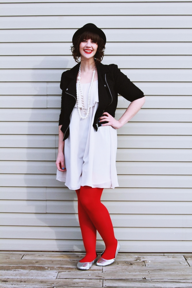 hannah rupp the outfit repeater first thrifted red tights winter outfit
