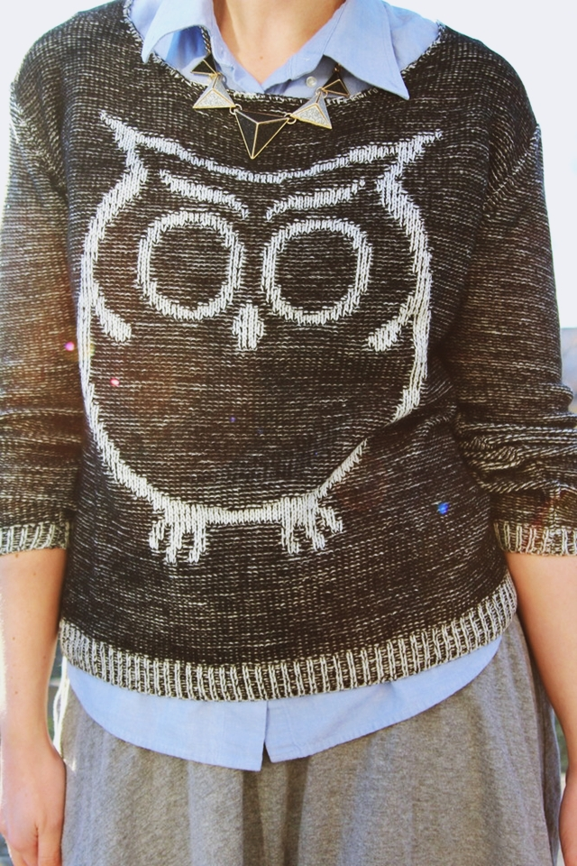 Why I Am The Outfit Repeater + Preppy Owl Sweater