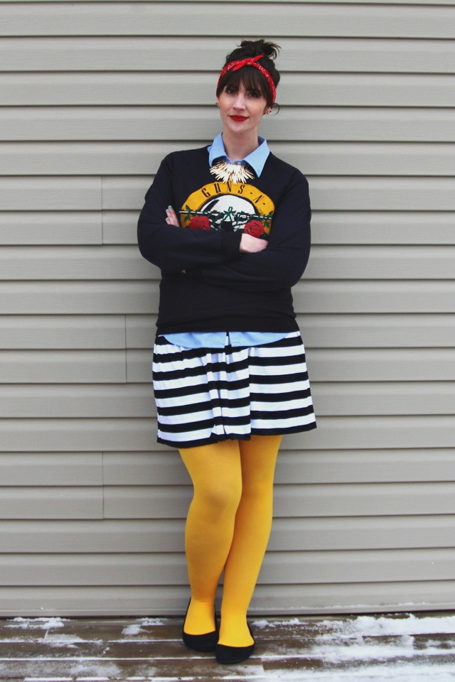 hannah rupp the outfit repeater vintage 1980s guns n roses sweatshirt thrifted