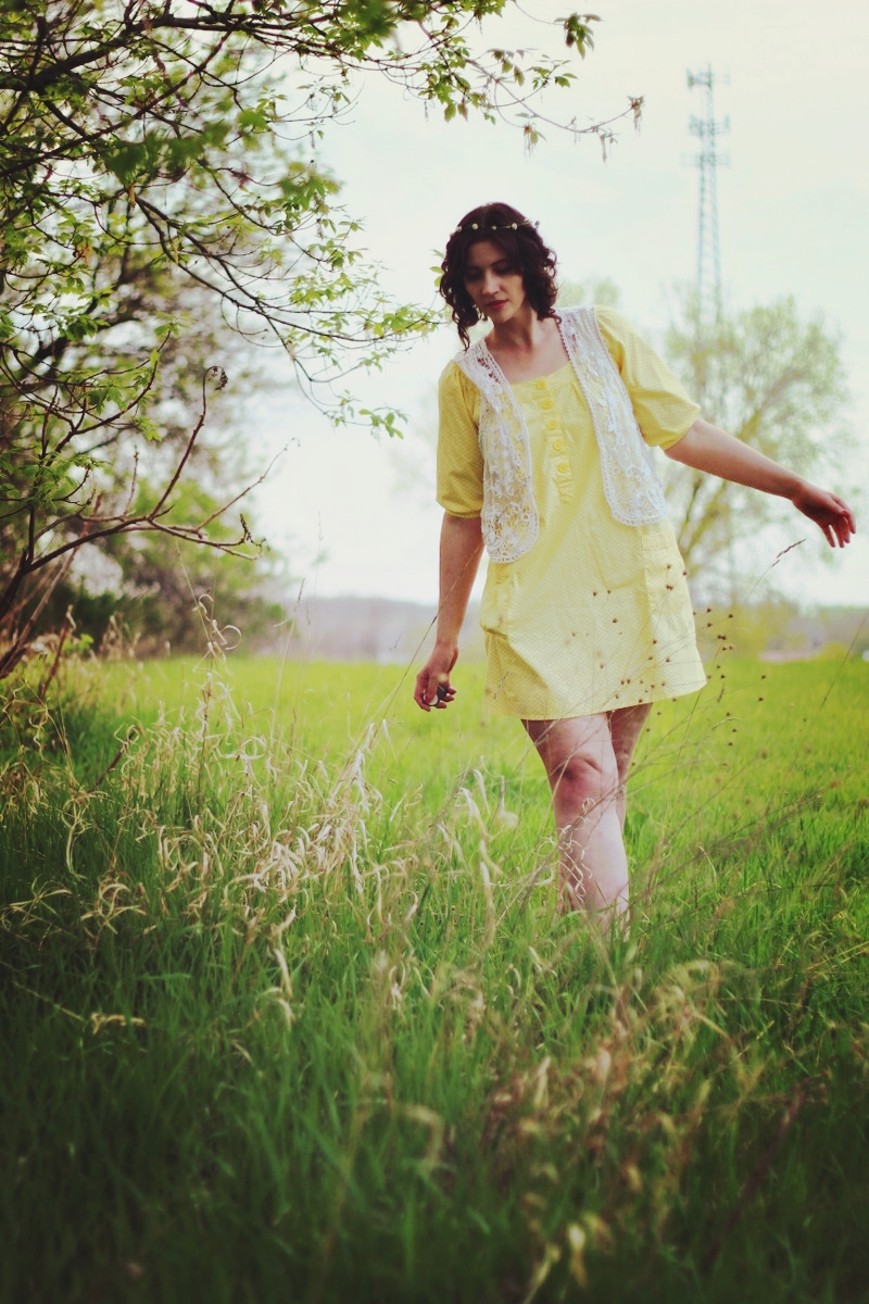 Looking Laid back in a Mellow Yellow Dress