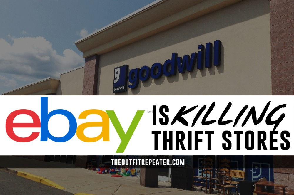 eBay resellers killing thrift stores goodwill st. vincents salvation army