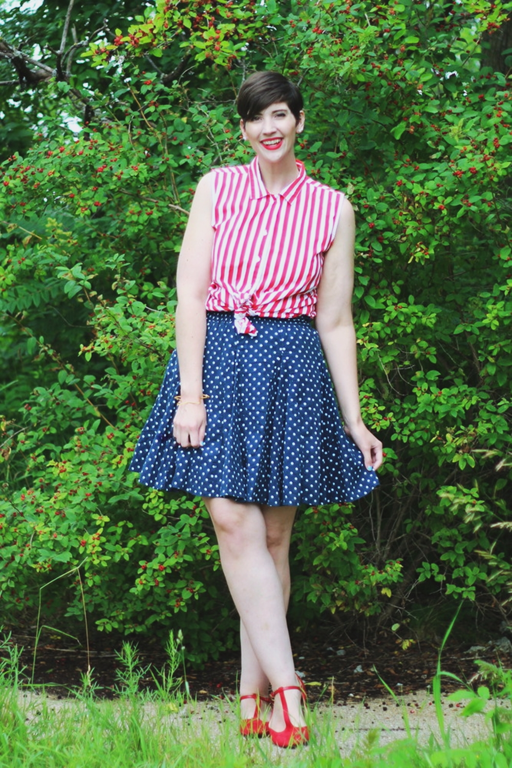 4th of July Outfit + DIY Star Bracelet | Collab w/ Figuring Out My Ever After