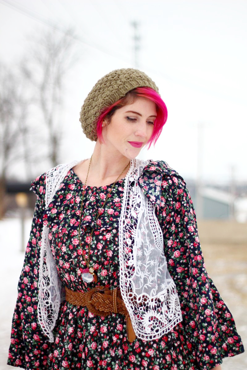A Floral Dress With Flair | New Outfit Post on Shaped By Style!