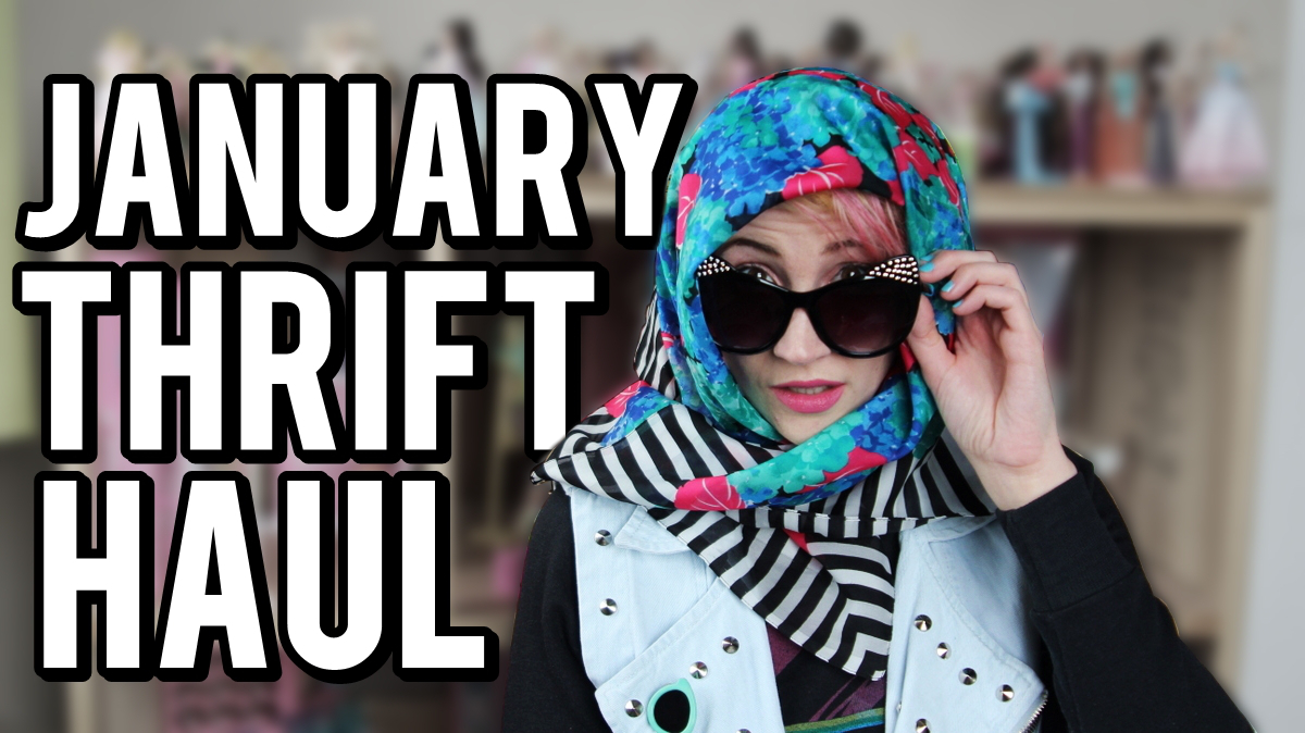January Monthly Thrift Haul Video