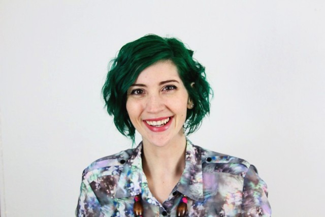 Dark pine green hair by Jerome Russell Punky Colours