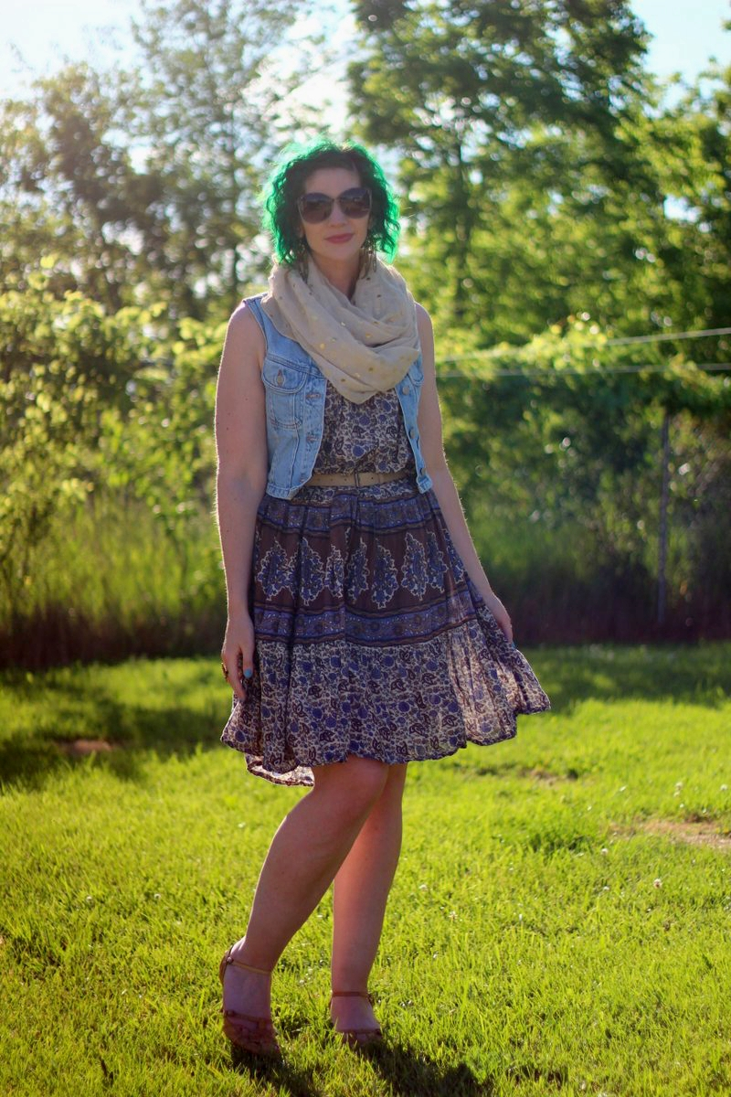 A Patterned Summer Dress Styled Two Ways w/ Eccentric Owl
