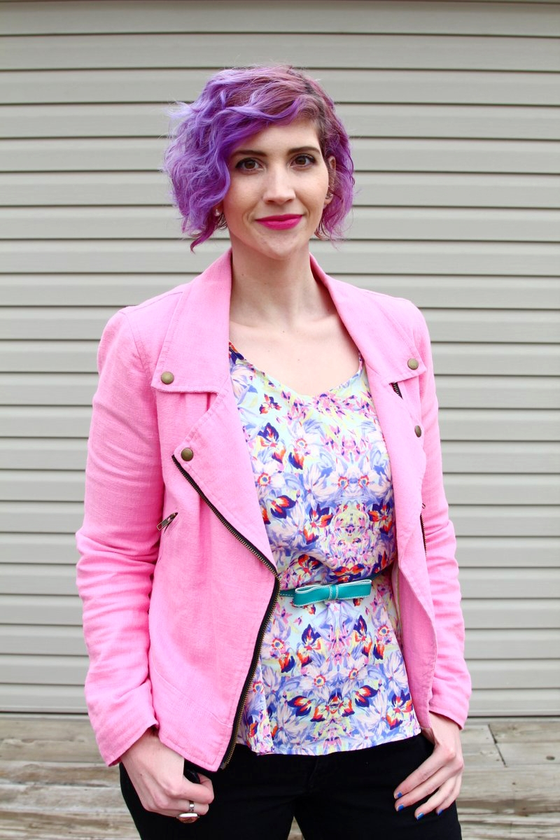Pretty in Pink, Purple, and Teal | New Outfit Post on Shaped By Style