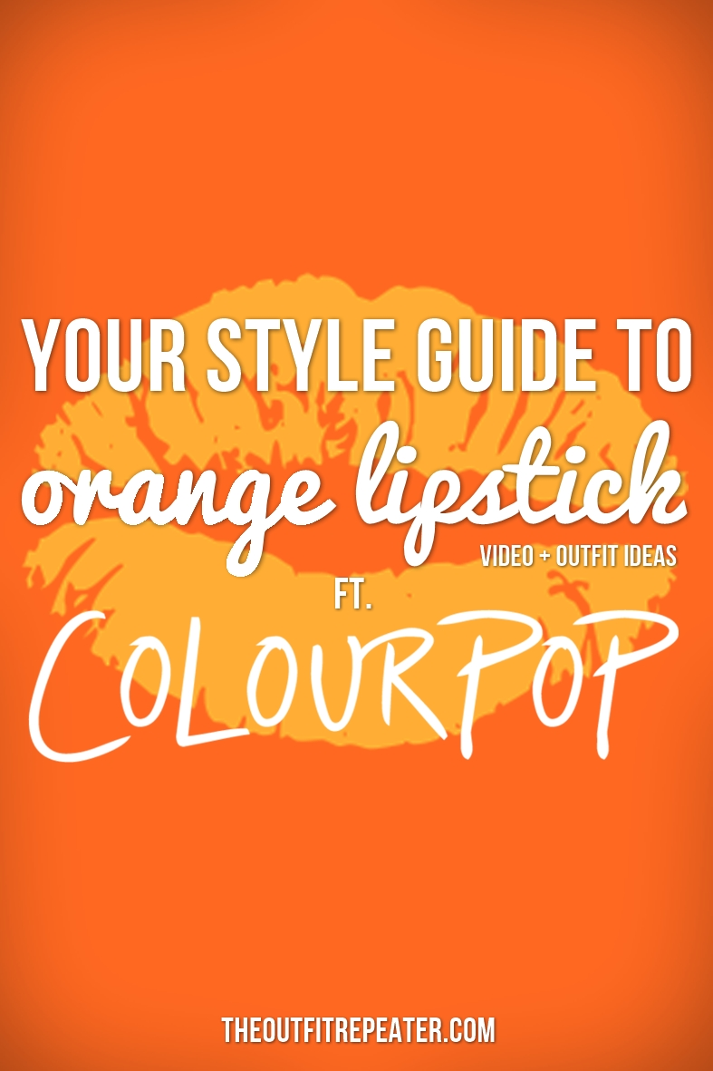 Your Style Guide To Wearing Orange Lipstick