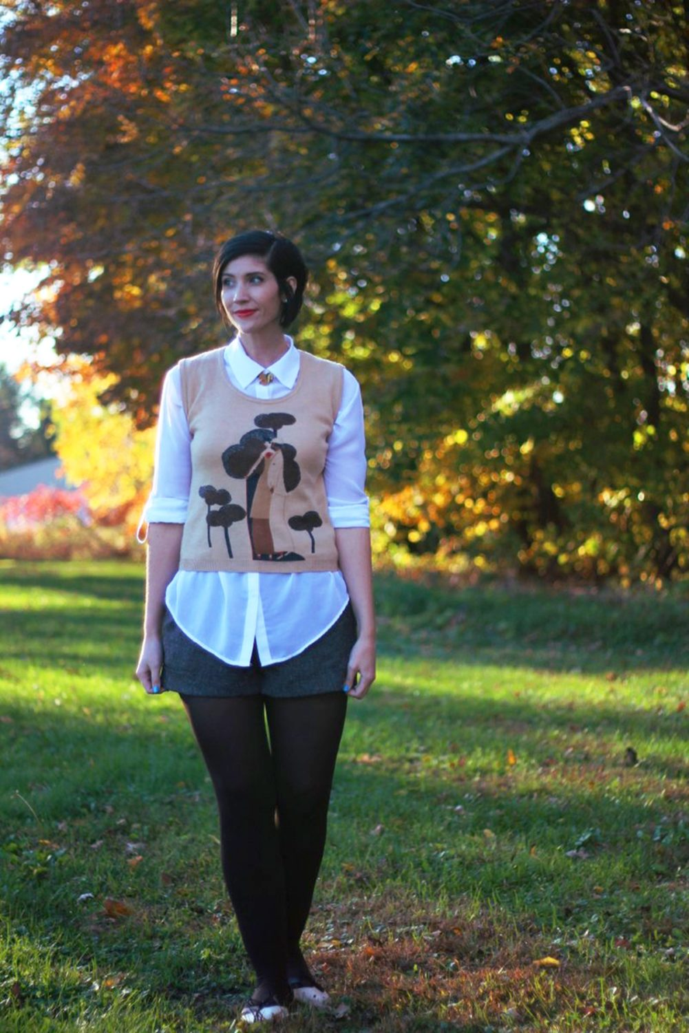 A Simple Way To Wear Shorts With Tights | The Outfit Repeater