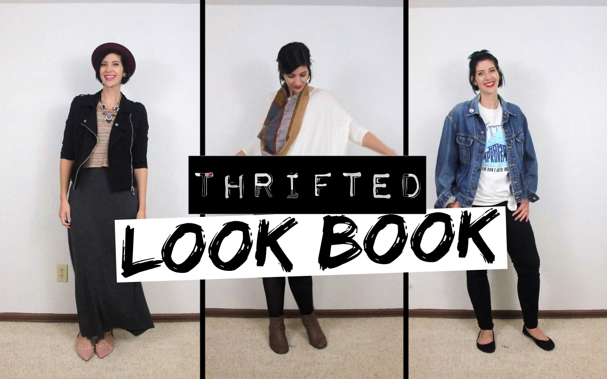 Autumn Thrifted Lookbook Video ft. 15 Outfit Ideas