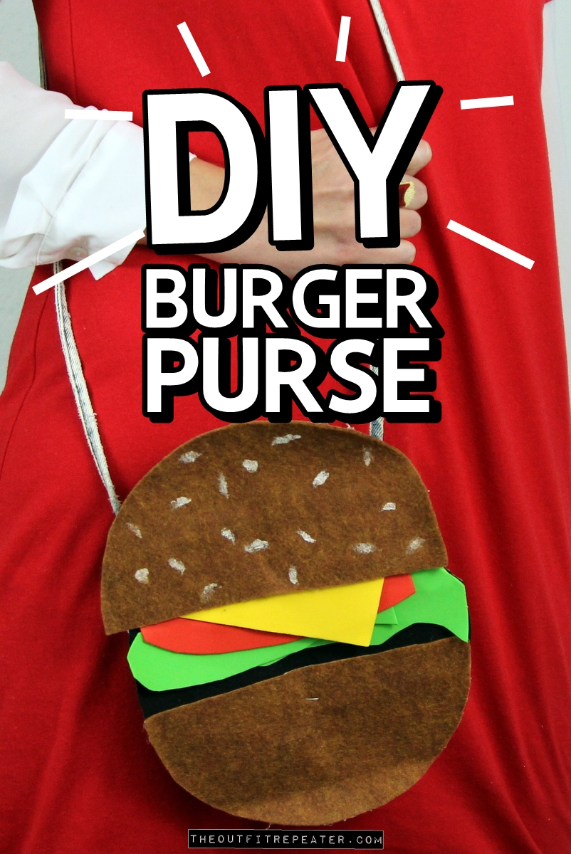 DIY Burger Purse Tutorial (No Sew!)