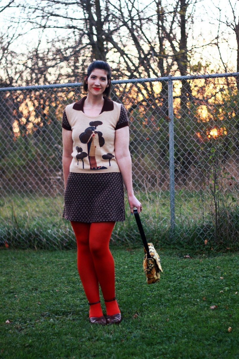 A Fun Way To Wear a Vintage Sweater Vest