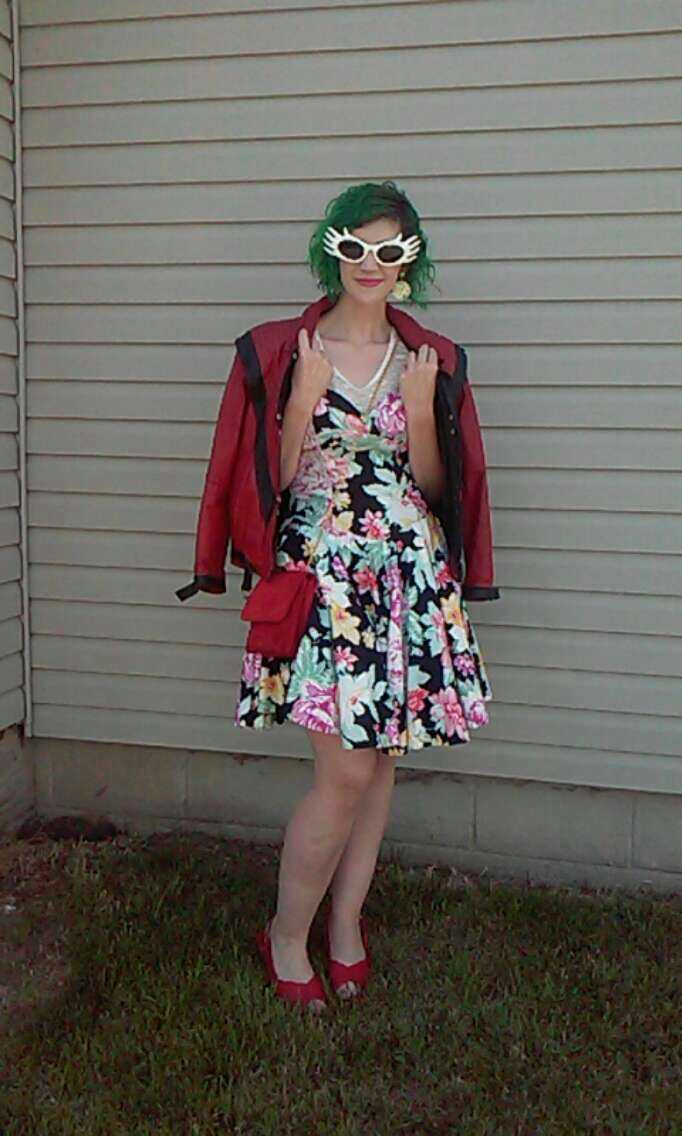 best of 2016 rewind 1980s outfit floral dress michael jackson thriller jacket