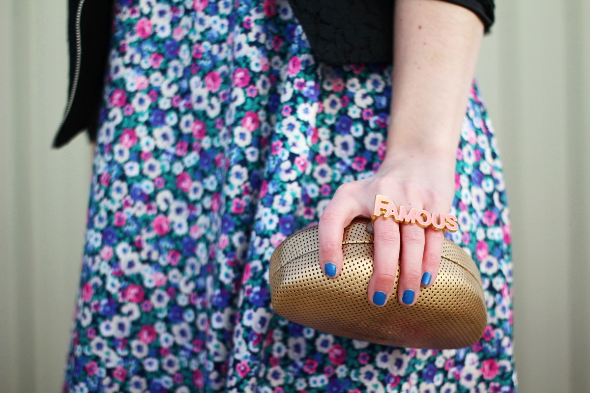 What I Love About Colorful Tights + A DIY Clutch Tutorial