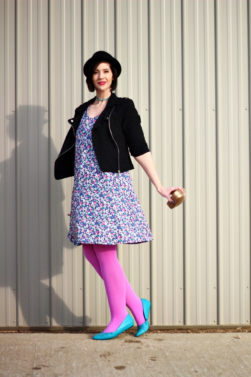 What I Love About Colorful Tights + A DIY Clutch Tutorial ...