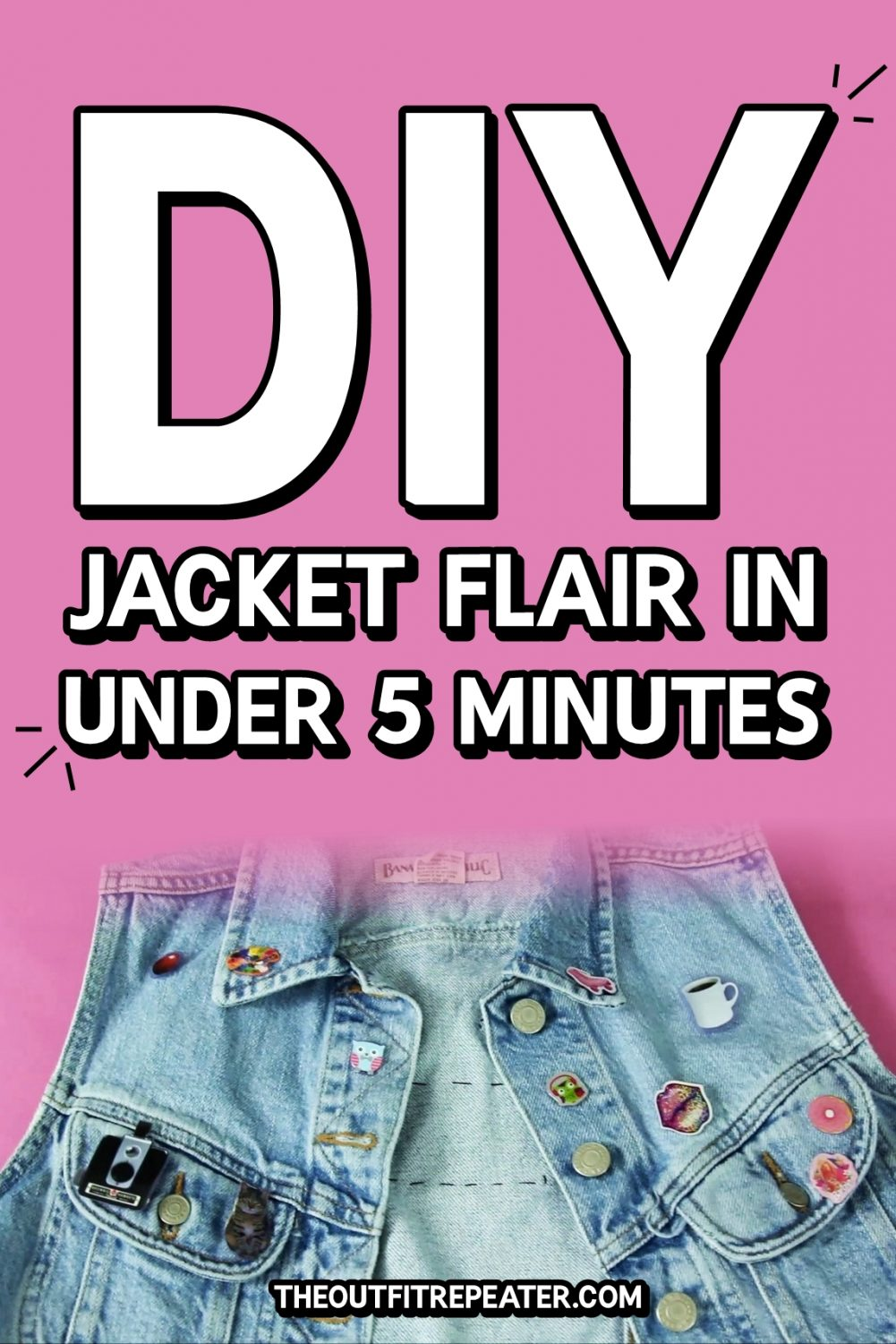 DIY Jacket Flair in Under 5 Minutes