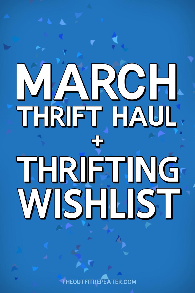 Really Rad March Thrift Haul Video + April Thrifting Wishlist