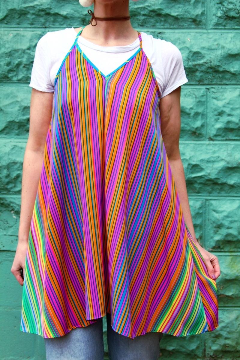 Two Ways to Wear a Rainbow Dress
