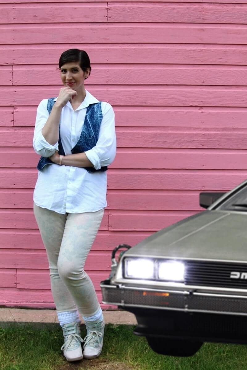A Completely Thrifted Back To The Future Inspired Outfit