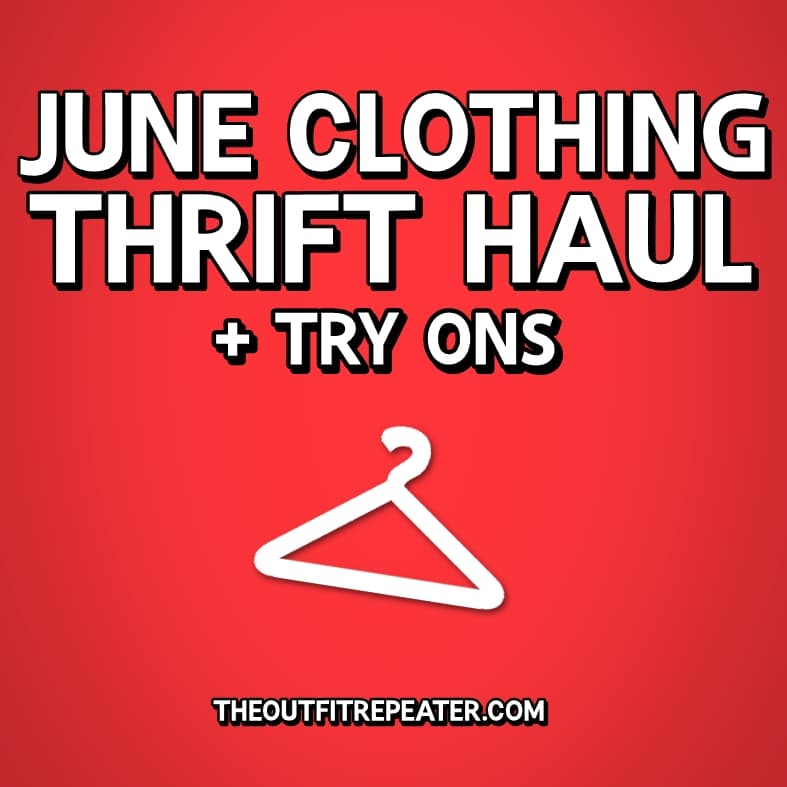 June Clothing Thrift Haul + July Thrifting Wishlist