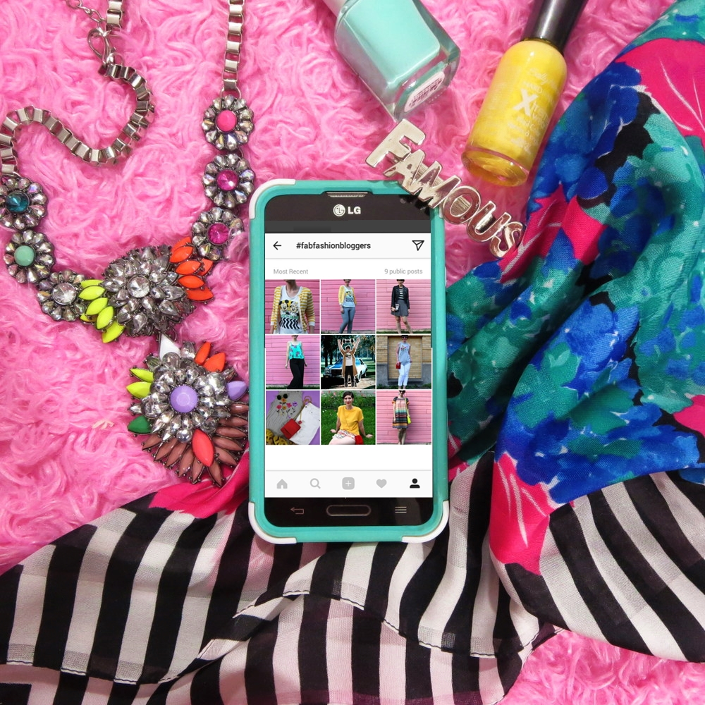 #fabfashionbloggers pinterest instagram hashtag sharing looks outfits smart phone style