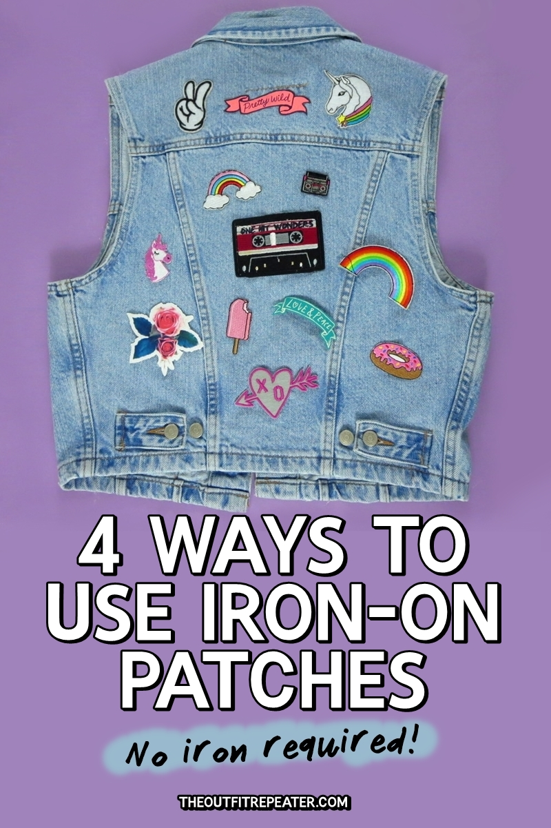No iron? No problem! Here's 4 other ways to use iron on patches as a fashion statement.