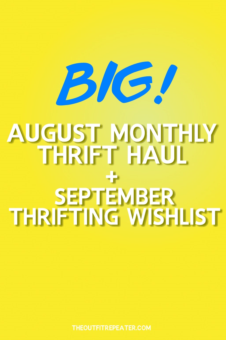 August Monthly Thrift Haul + September Thrifting Wishlist