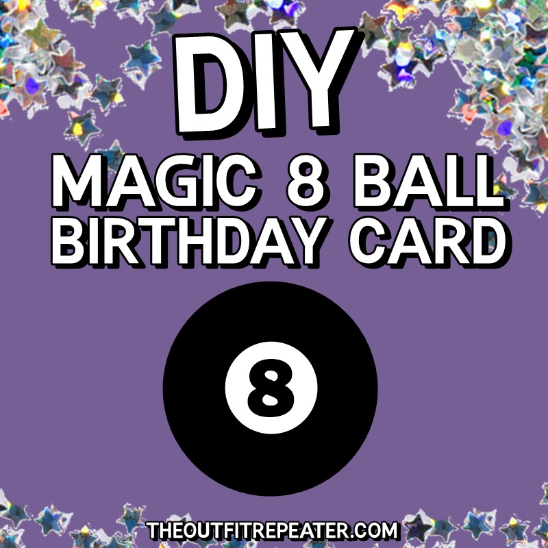 diy 1980s card birthday greeting magic 8 ball