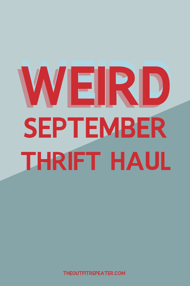 weird september thrift haul hannah rupp the outfit repeater video fashion clothes household