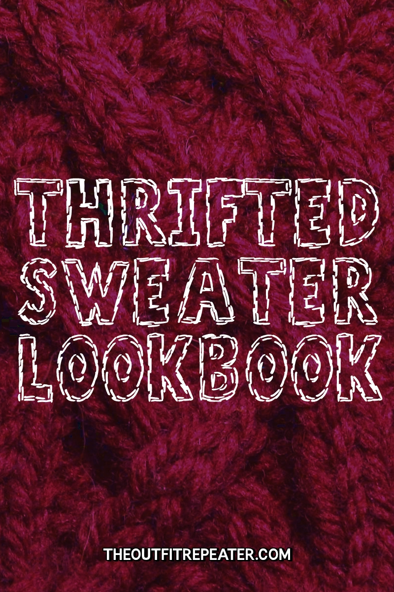 Sweater Weather Thrifted Lookbook thrifted sweater outfits fall autumn video