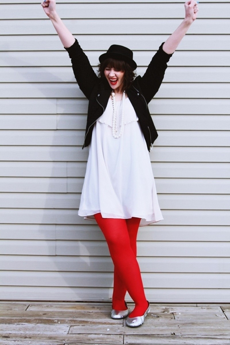 the outfit repeater hannah rupp fashion blog style evolution white dress moto jacket red