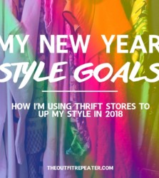 My Thrifting Fashion Goals for 2018