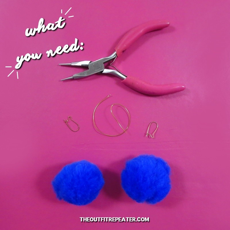 DIY Pom-pom Earrings in Under 5 Minutes!
