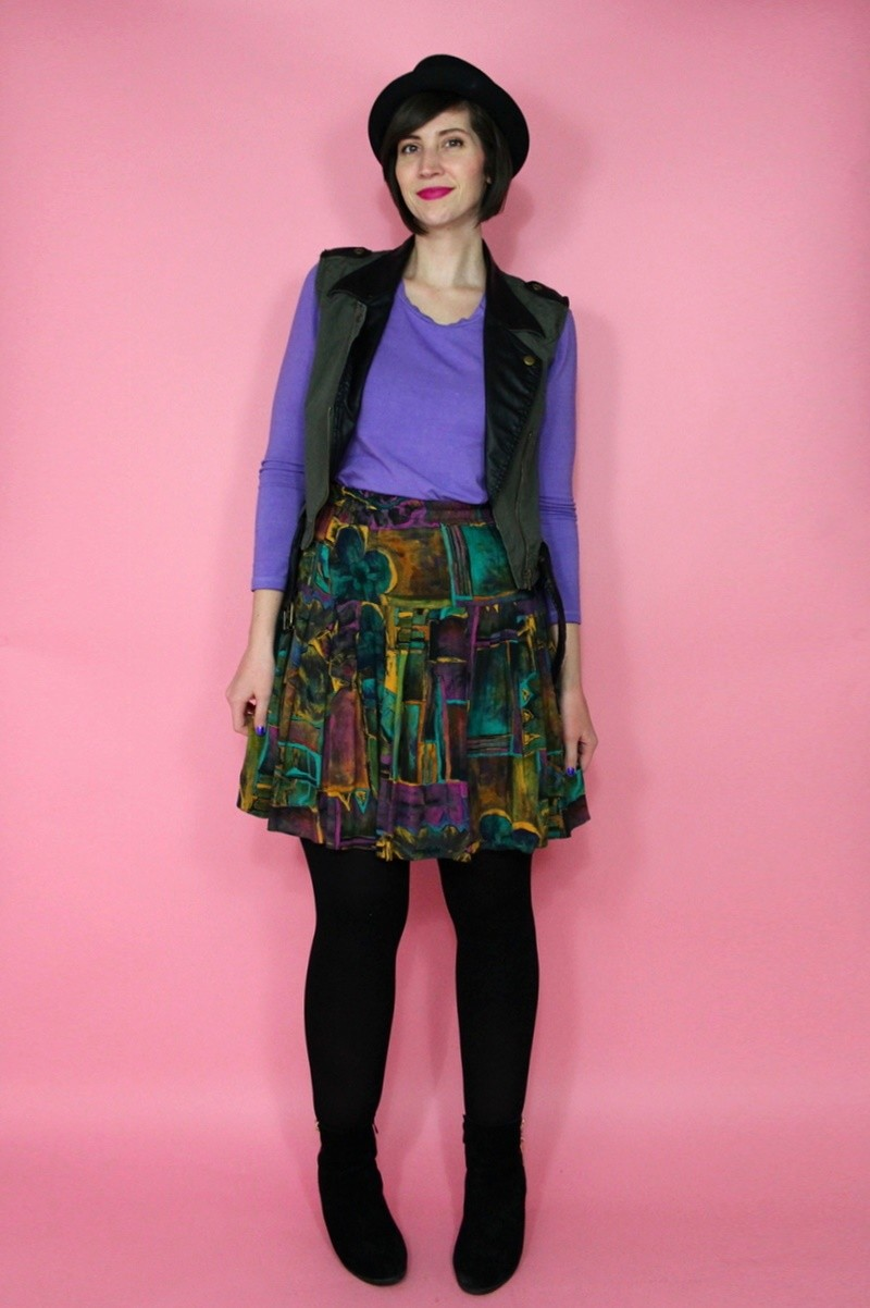 hannah rupp the outfit repeater ultra-violet spring trend pantone color of the year thrifted fashion