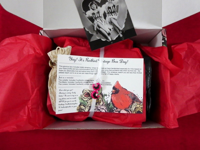 hannah rupp the outfit repeater vintage subscription box service monthly redbird 1980s