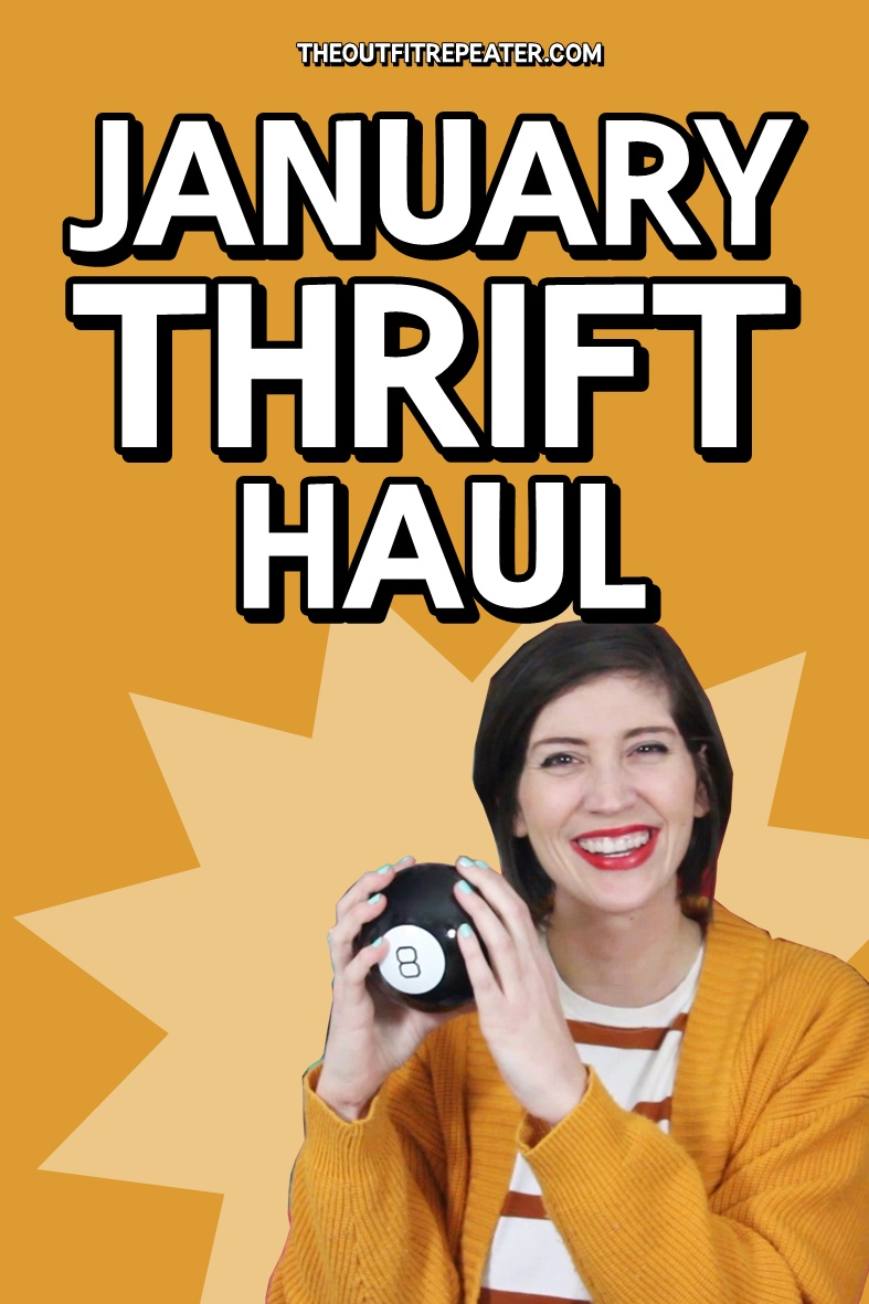 Colorful January Monthly Thrift Haul + February Thrifting Wishlist