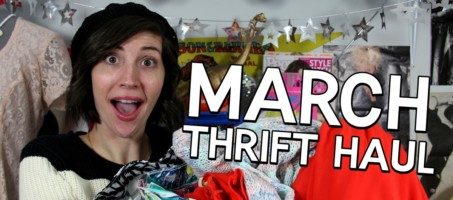 March Thrift Haul + Mini Lookbook + April Thrifting Wishlist!