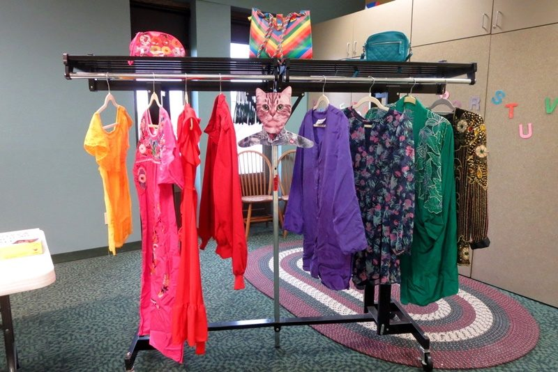 hannah rupp the outfit repeater thrift blog monroe public library program colorful closet