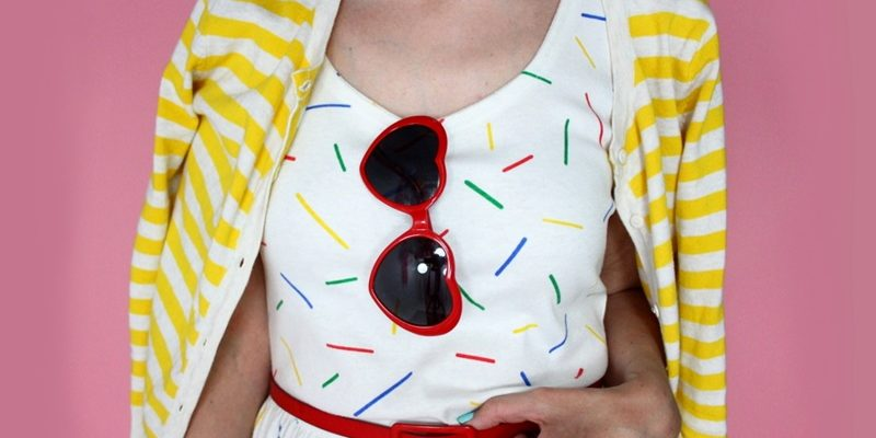 Celebrating The End of Summer in Colorful Stripes