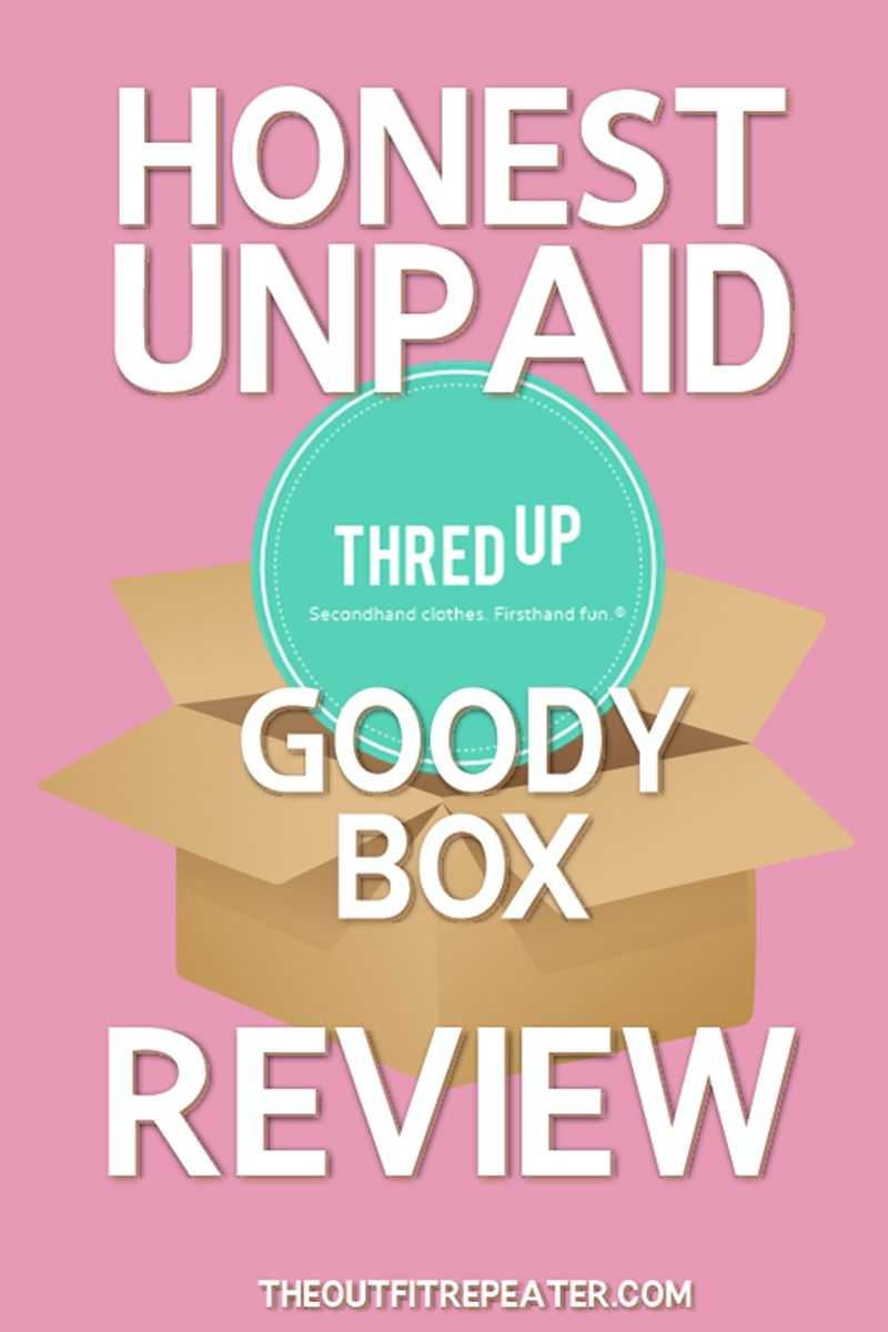 thredup goody box review honest unpaid hannah rupp the outfit repeater 2018