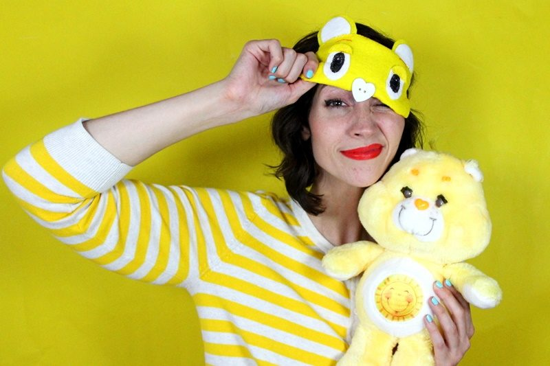 DIY Care Bear sleeping eye mask how to tutorial retro funshine 1980s hannah rupp the outfit repeater