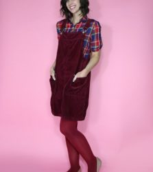Thrifting Fall Trends: Plaid and Monochromatic