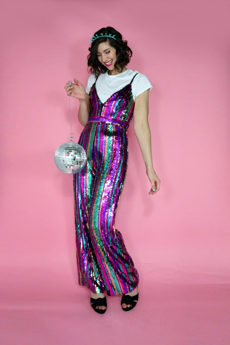 37324e8d315 New years eve sequin jumpsuit the outfit repeater jpg 800x1200 Outfit  jumpsuit nye