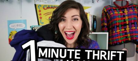 One Minute January Monthly Thrift Haul Video + February Thrifting Wishlist