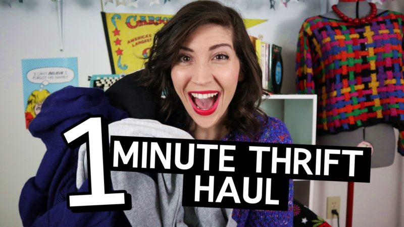 one minute january monthly thrift haul video 2019 hannah rupp the outfit repeater