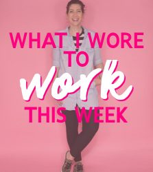 What I Wore To Work This Week | April Showers!