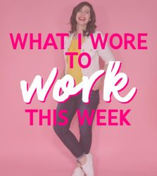 What I Wore To Work This Week | Something Old, Something New