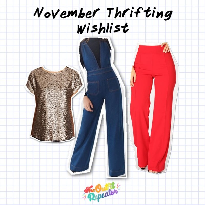 october 2019 monthly thrift haul video thrifting goodwill hannah rupp the outfit repeater